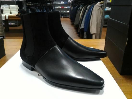 Balmain 40-41-42 Contrast Suede & Leather Boot Size US 9 / EU 42