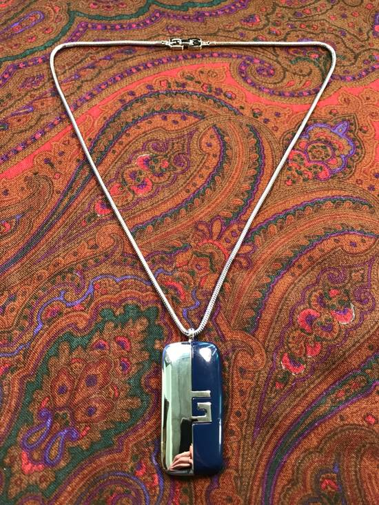 Givenchy Silver Blue Amulet Necklace Size ONE SIZE