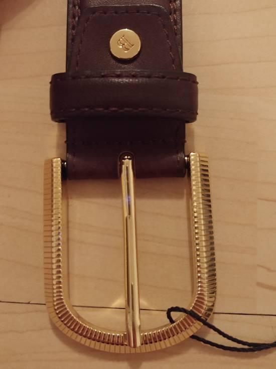 Balmain Balmain brown leather gold buckle belt Size 32 - 2