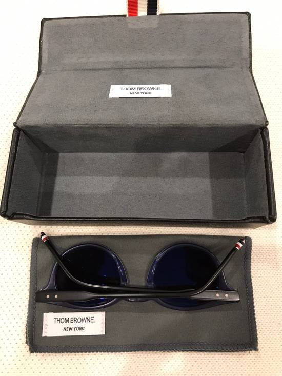 Thom Browne Thom Browne Matte Black Round Frame Sunglasses Size ONE SIZE - 2
