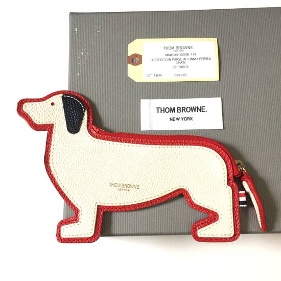 Thom Browne Funmix Hector Dog Leather Pouch NWT Size ONE SIZE - 1