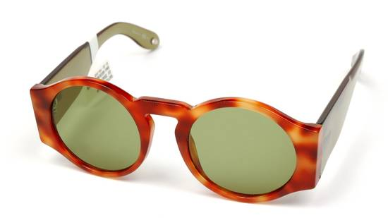 Givenchy SALE! NEW Givenchy 7056 Havana Brown Green Tinted Lens Round Sunglasses Size ONE SIZE - 2