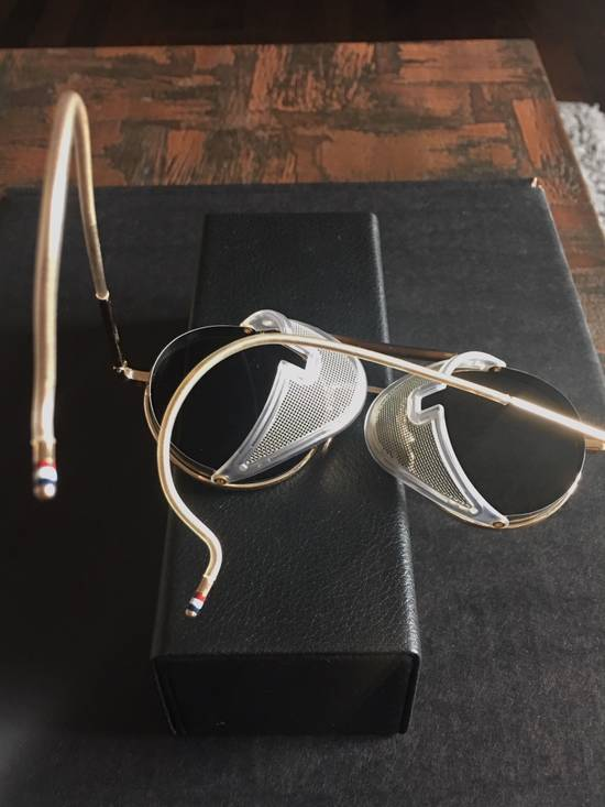 Thom Browne Thom Browne 12K Gold Aviator Sunglasses Size ONE SIZE - 6