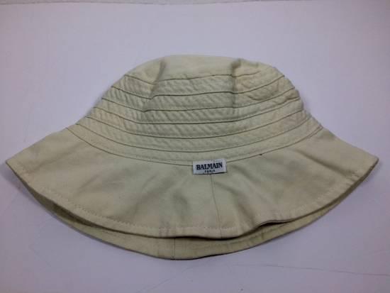 Balmain Cream White Bucket Safari Hat Likely Children's Size ONE SIZE - 4