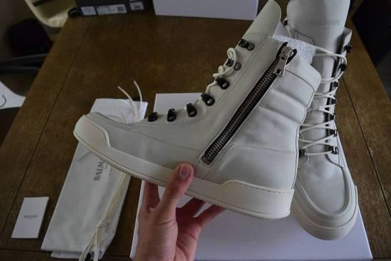 Balmain Balmain Authentic $1150 Leather White High Top Sneakers Size 11 Brand New Size US 11 / EU 44 - 1