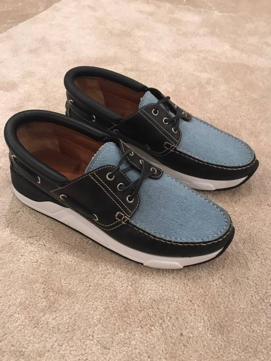 Givenchy Givenchy Denim And Black Leather Shoes Size 45 Size US 12 / EU 45