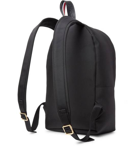 Thom Browne Pebble-Grain Leather-Trimmed Nylon Backpack Size ONE SIZE - 1