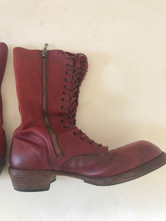 Julius AW09 blood high cut side zips boots Size US 10 / EU 43 - 7