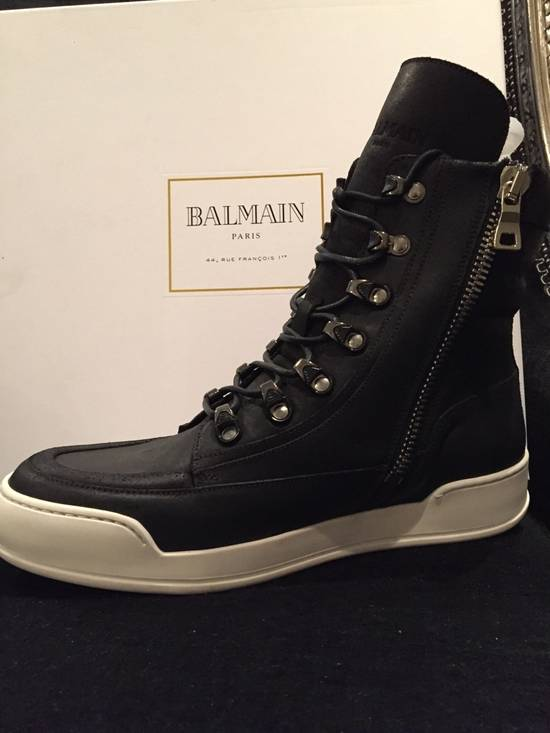 Balmain Classic leather high top sneaker Size US 7 / EU 40