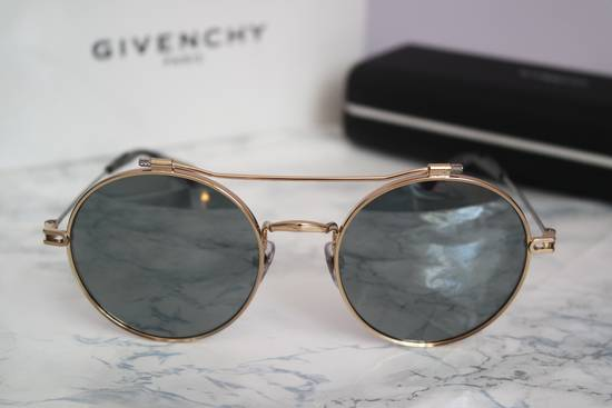 Givenchy NEW Givenchy 7079/S Gold Metal Silver Mirrored Round Sunglasses Size ONE SIZE - 8