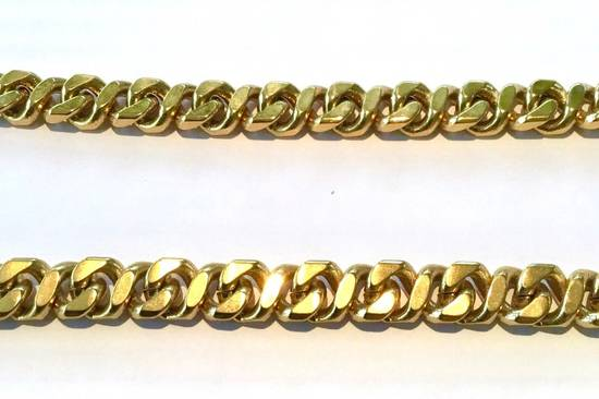Givenchy Givenchy Cuban Link Gold Tone Chain Vintage 24 Inch Necklace G Clasp Size ONE SIZE - 1