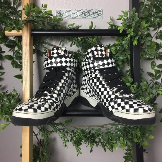 Givenchy Black/White Woven Leather Checkerboard Hi Top Size US 9.5 / EU 42-43 - 2