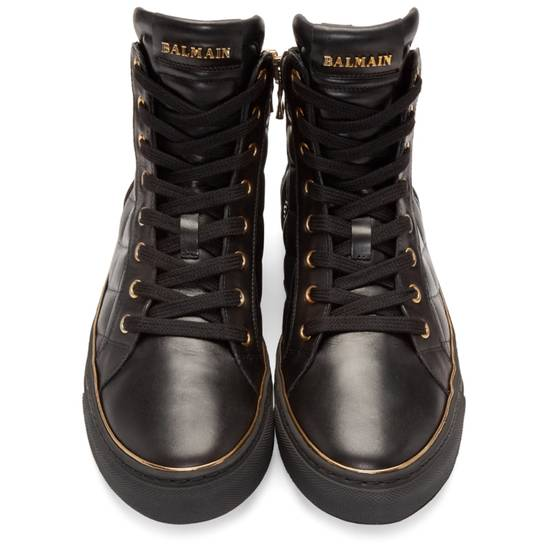 Balmain Quilted Hi Top Sneakers Size US 11 / EU 44 - 8