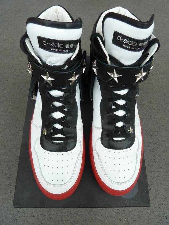 """Givenchy NO GIVENCHY ! D-Side """"Marshall"""" Star Studs Hitops Red/Black/White Size US 10 / EU 43 - 1"""