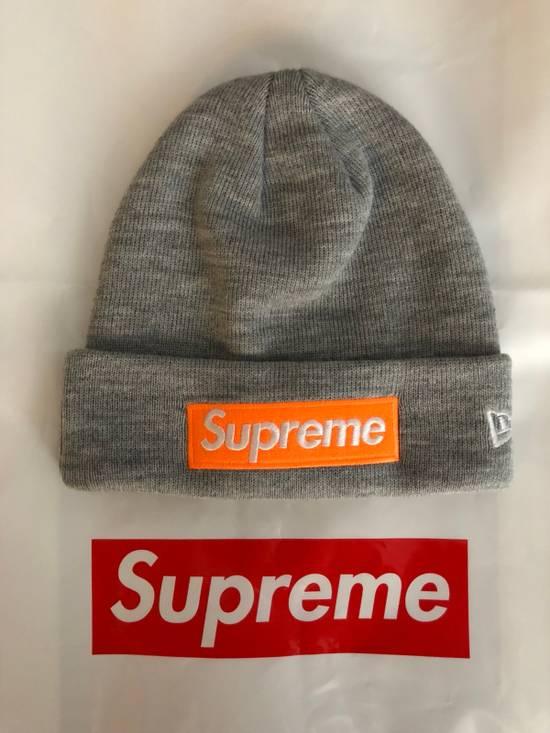 92c451e015762 Supreme Supreme Box Logo Beanie Grey Orange Size one size - Hats for ...