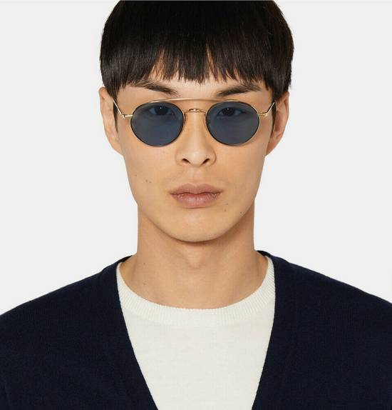Thom Browne Round-Frame 12K Gold-Tone Sunglasses TB-101-D-T-BLK-GLD Size ONE SIZE - 3