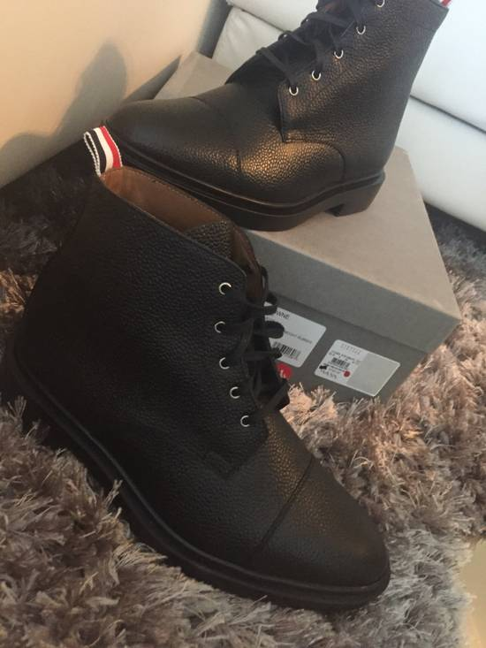 Thom Browne New $790 Pebbled Leather Boots Size US 8 / EU 41 - 11