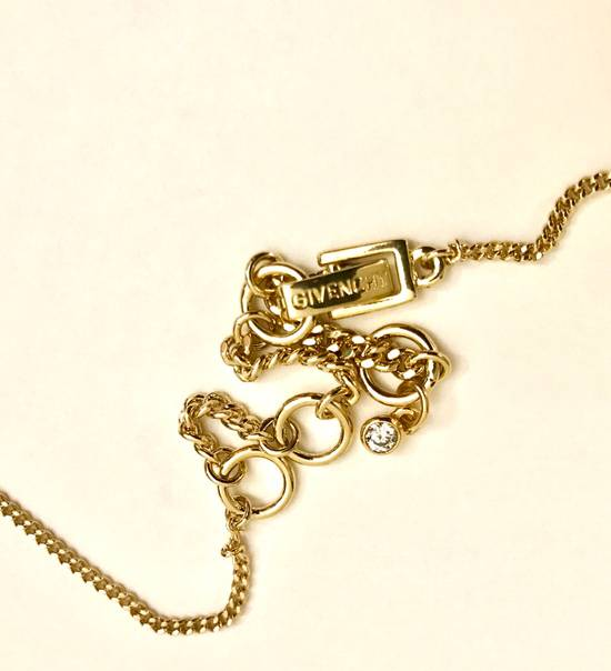 Givenchy Givenchy Gold Tone Necklace Crystal Pendant Chain Diamonds Size ONE SIZE - 3