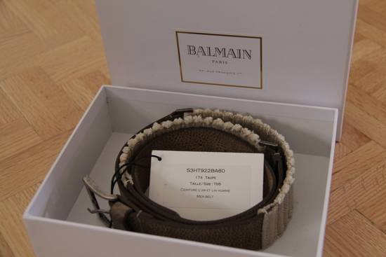 Balmain Size 95/38 - Leather / Fabric Belt Size 38 - 1