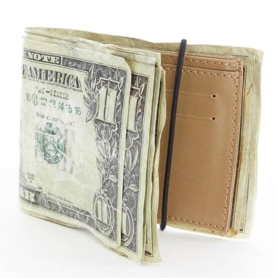 Maison Margiela MARTIN MARGIELA $11 dollar bill elastic band bifold leather wallet Size ONE SIZE - 2