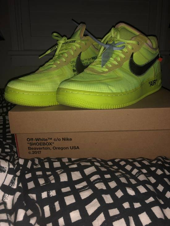 pretty nice 396e5 b201d 2018 Nike Air Force 1 Low Off-White Volt AF1 size 11