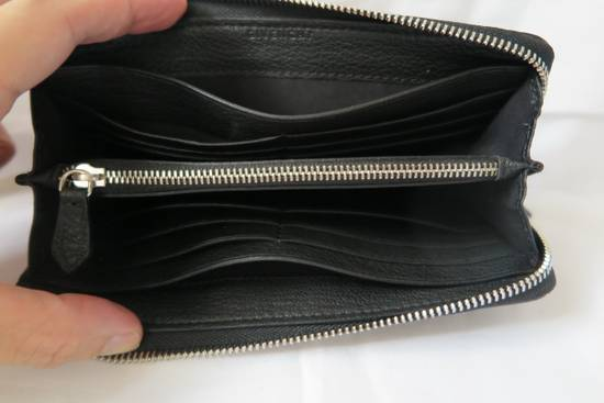 Givenchy Givenchy Pandora Logo Metal Black Leather Zip Long Wallet Size ONE SIZE - 5