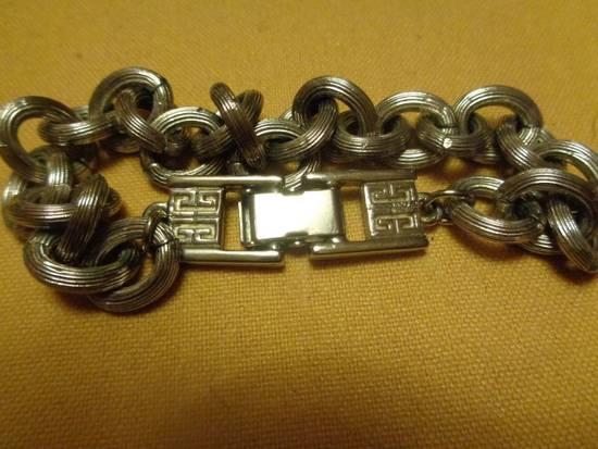 """Givenchy 8"""" Vintage Silver Plated Bracelet Size ONE SIZE - 3"""