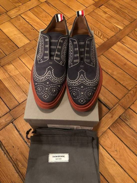 Thom Browne THOM BROWNE Stitched Nubuck Laceless Balmorals Size US 8 / EU 41 - 1