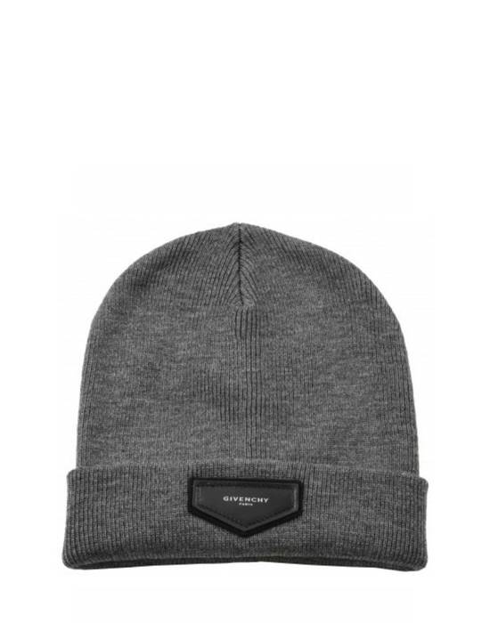 Givenchy Givenchy Grey Logo Beanie Hat Size ONE SIZE