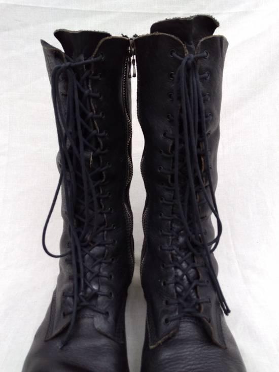 Julius f/w09 Tall Combat Boots Black Size US 11 / EU 44 - 3