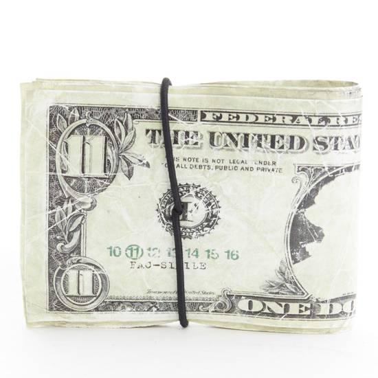 Maison Margiela MARTIN MARGIELA $11 dollar bill elastic band bifold leather wallet Size ONE SIZE - 1