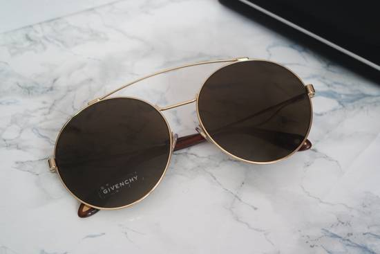 Givenchy NEW Givenchy 7048/S Oversized Round Aviator Sunglasses in Gold/Brown Size ONE SIZE - 1