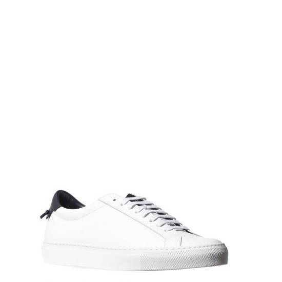 Givenchy LOW SNEAKERS IN LEATHER with navy blue leather inset and knots on the back Size US 11 / EU 44 - 2