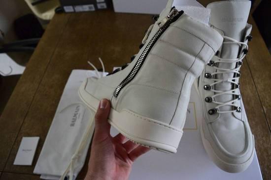 Balmain Balmain Authentic $1150 Leather White High Top Sneakers Size 11 Brand New Size US 11 / EU 44 - 2