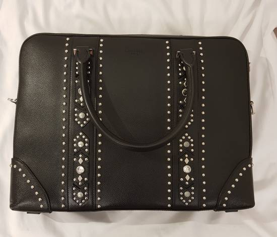 Givenchy Givenchy Men Leather Studded Black Briefcase Bag Brand New With Tags Size ONE SIZE - 1