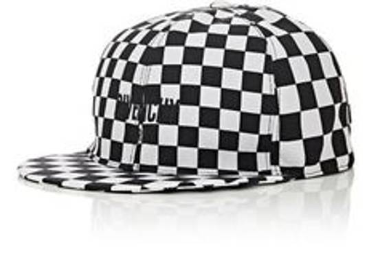 Givenchy Chequerboard Printed Shell cap white black hat Size ONE SIZE - 2