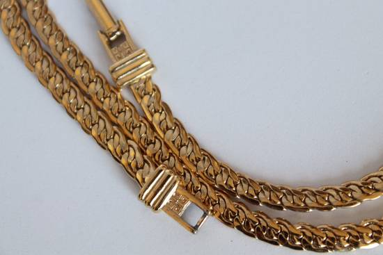 Givenchy Gold Plated Flat Braided Necklace Size ONE SIZE - 3