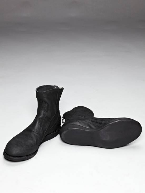 Julius SS12 [edge;] Cowhide Wedge-sole Back-zip Boots Size US 9 / EU 42