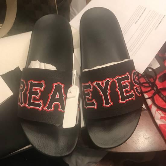 Givenchy NEW Givenchy Real Eyes Black Sandals Sz 42/9 Size US 9 / EU 42 - 1