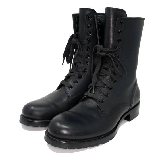 Balmain Balmain Black Classic Pierre Men's Leather Panelled High Combat Boots Booties Size US 9 / EU 42 - 4