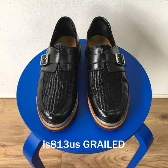 Balmain BALMAIN Black Leather Buckled Steel Capped Shoes Size US 9 / EU 42