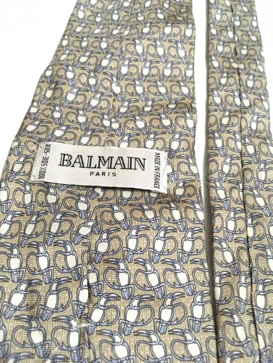 Balmain Vintage Balmain Tie Pierre Balmain Silk Necktie Animal Repeat Tie Size ONE SIZE - 5