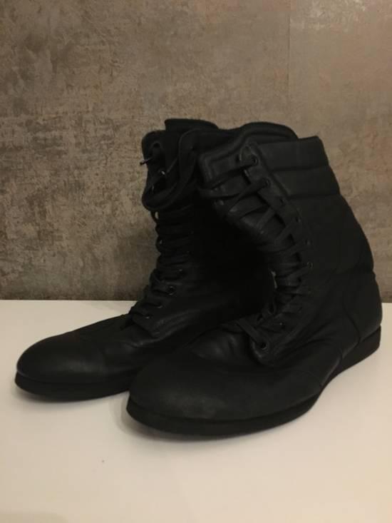 Julius Backzip Black Pigskin Boxing Boots Size US 10 / EU 43