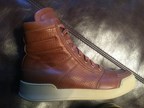 Balmain Hi Top Camel Leather Sneakers Size US 9 / EU 42 - 4