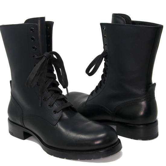 Balmain Balmain Black Classic Pierre Men's Leather Panelled High Combat Boots Booties Size US 9 / EU 42 - 1