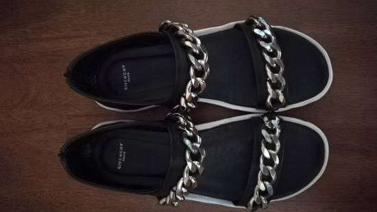 Givenchy Palladio Chain Strap Leather Sandals Black Size US 12 / EU 45 - 1