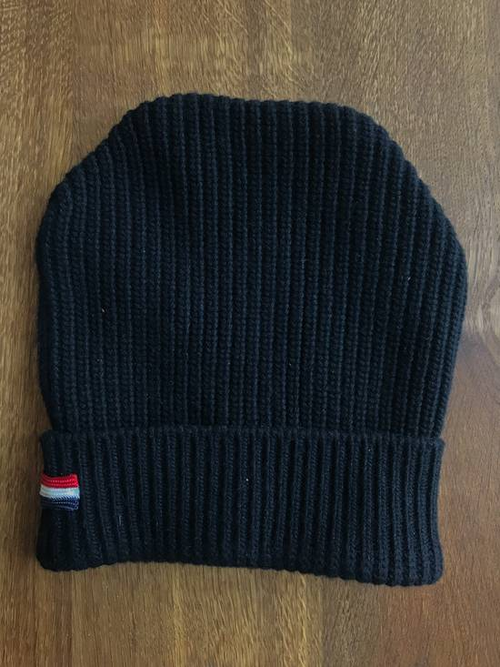 Thom Browne Moncler Gamme Bleu Black ribbed hat by Thom Browne Size 30 - 2