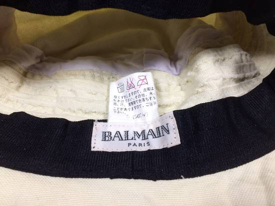 Balmain Cream White Bucket Safari Hat Likely Children's Size ONE SIZE - 6