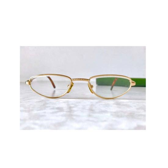 Givenchy Givenchy Gold Vintage 90s Oval Round Frames Square Eyeglasses Size ONE SIZE