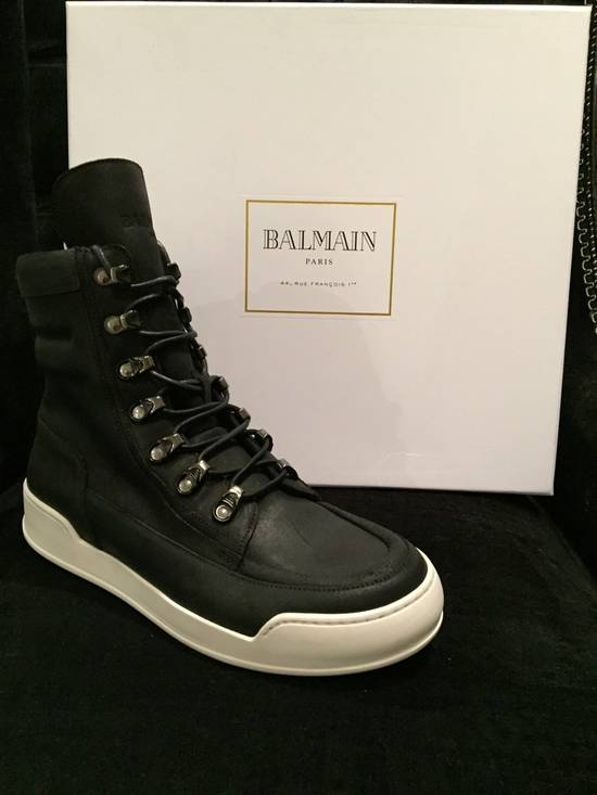 Balmain Classic leather high top sneaker Size US 7 / EU 40 - 2